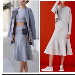 Nicholas skirt boiled felted wool flared swing 4
